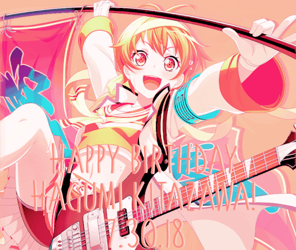 It's officially July 30th where I live so Happy Fucking Birthday to Hagumi and I! To celebrate...