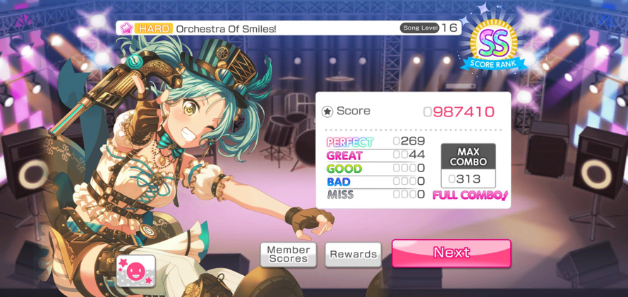 I haven't even been playing for 1 year and I finally did a Full Combo on a Hard song, I'm happy with...