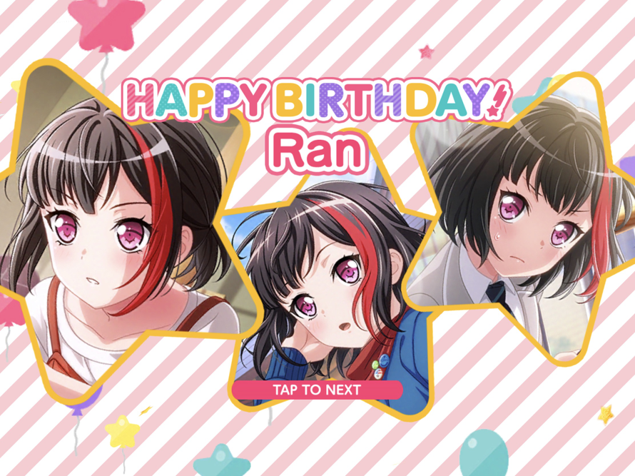 Happy belated birthday to Afterglow's lead vocalist and rhythm guitarist Ran Mitake~♪♡!