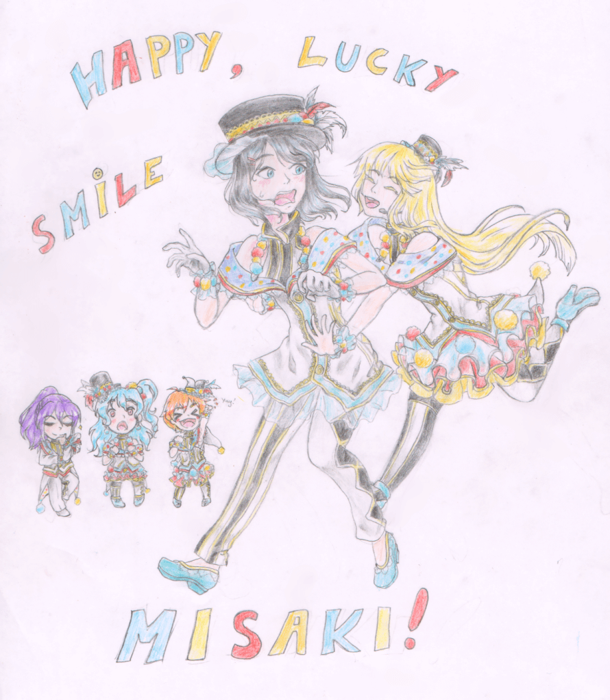 Hey, what day is it ? IT'S HER BEARTHDAY ! Yaaay ! ... Wait, Misaki and Michelle are the same person...