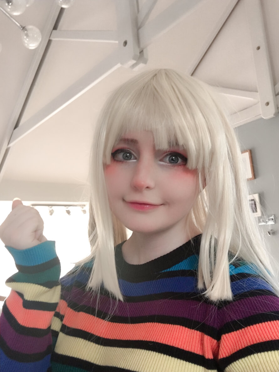 Here is my kokoro costest!!! My smile seeker kokoro cosplay will be ready soon so I'm excited for...