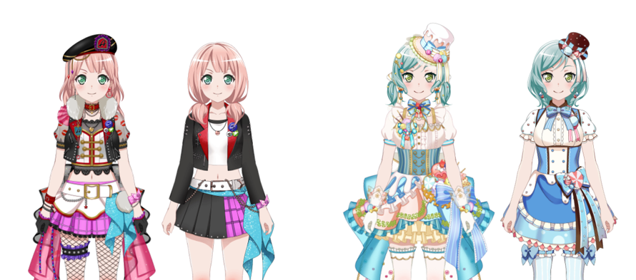 As always, new DreamFes = More comparisons! Here are the comparisons for Himari and Hina!
