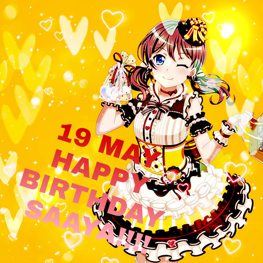 An edit to celebrate Saaya's birthday. Happy Birthday, Saaya!!!💛💛💛💛💛
