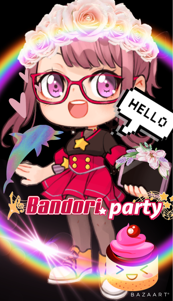 I edited Bandori.party's mascot! I didn't have a idea or anything so I just decided to edit her! She...