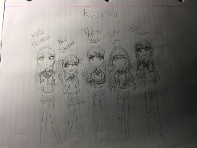 This is my first time posting on here. I drew my favorite band! Roselia! I know it's not good but I...