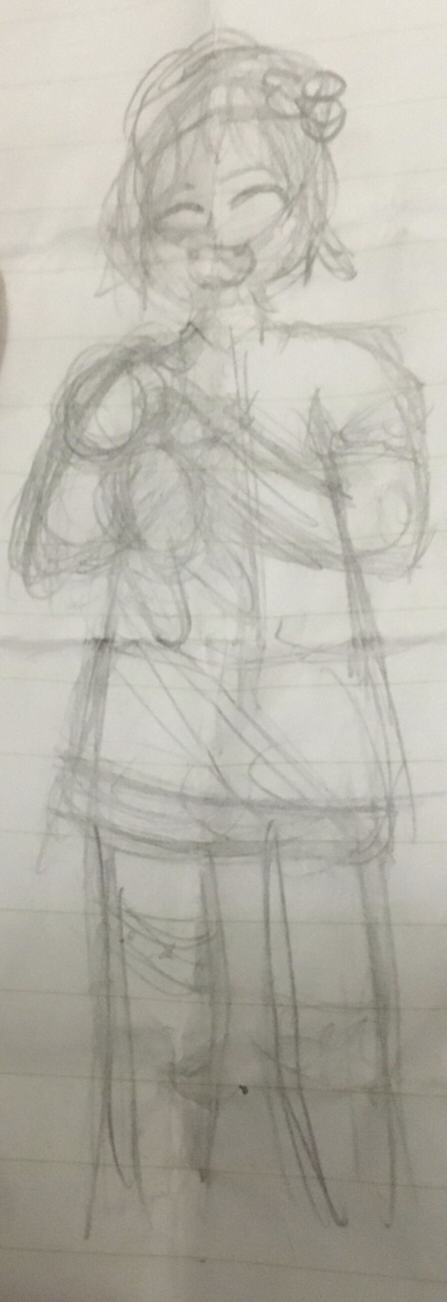 I made in class a Hagu sketch for  day 12 of...