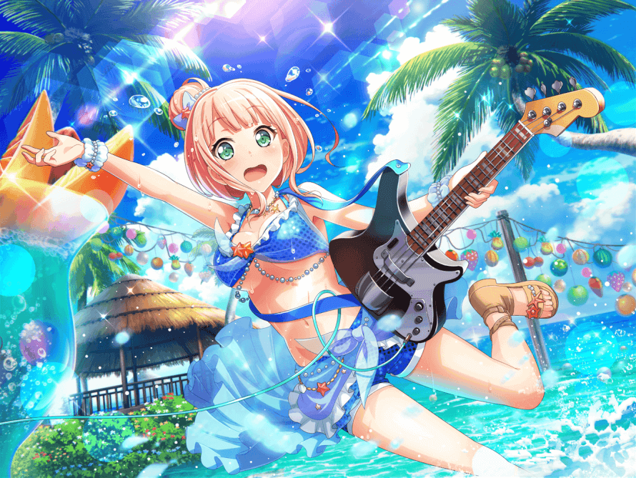 so obviously electricity and water result in electrocution, so this pic of himari is a dang Top 10...