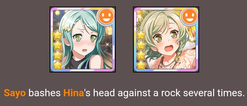 Ok so I did the hunger games simulator thing and AAAAA SAYO IS KILLING HER SISTER WHAT ok I don't...