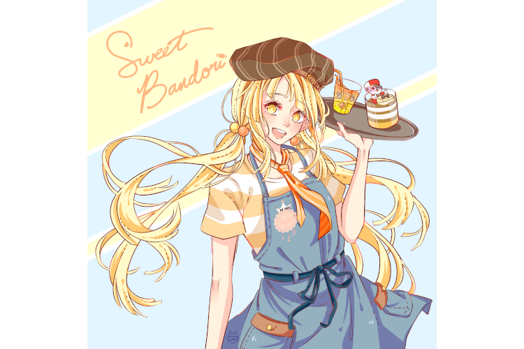 Hello !! I had the opportunity to draw a promo art piece for a sweets themed bandori zine! If...