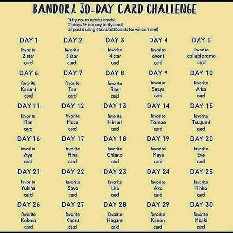Introducing the Bandori 30 Day Card Challenge! ~If this isn't allowed, let me know! I...