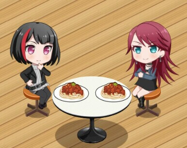 two single moms on a spaghetti date i'm happy for them