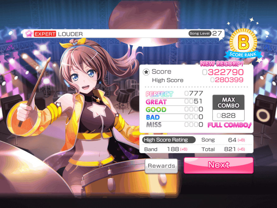 Finally FCed this but bandori decided it was time I finally get FC when I was play on my BROTHER'S...