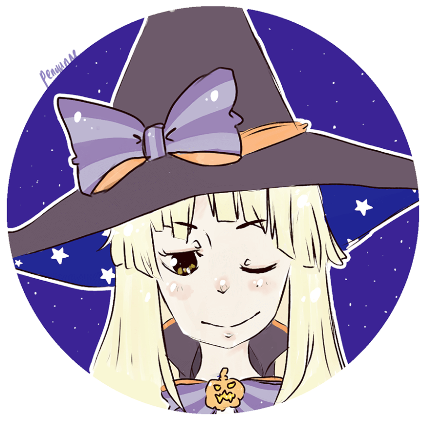 I drew a witch Kokoro ;v; what do you think~?