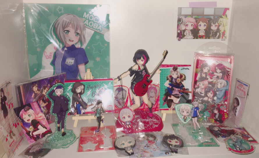 my moca/afterglow collection 💗 once moca gets a figure or nendoroid it's over for me