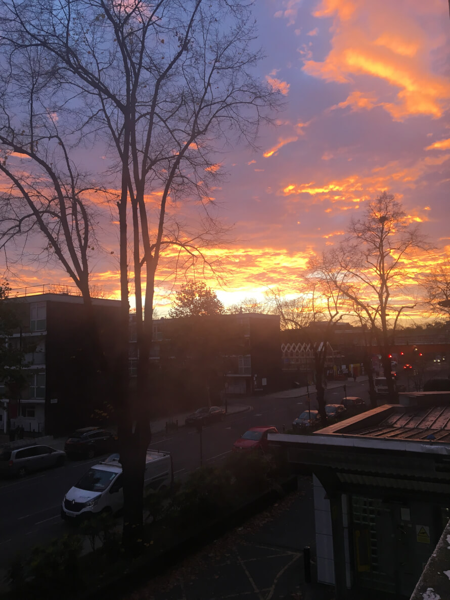 I was getting ready for school until the most beautiful sunrise has appeared. I love it. ...