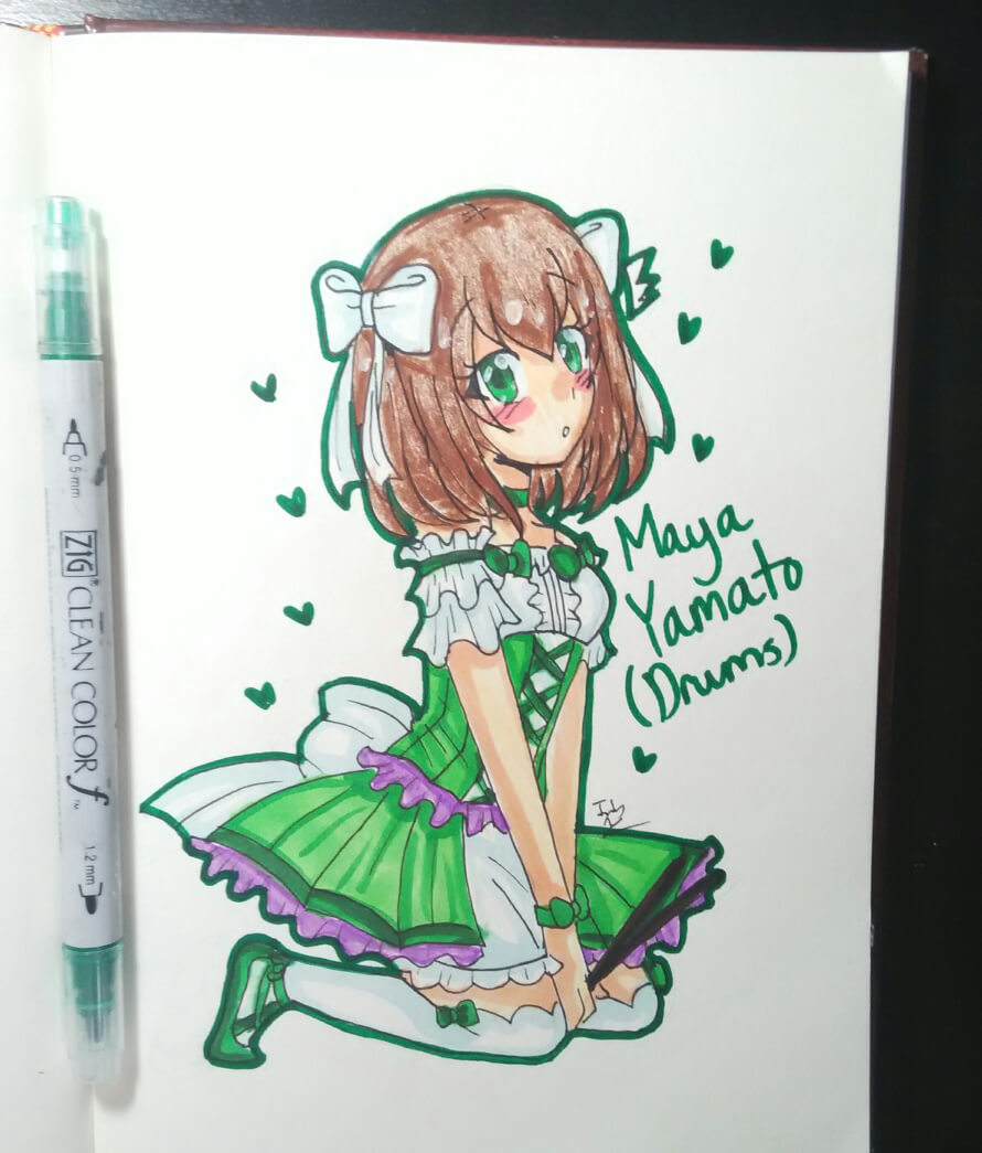 I love Maya chan!!!!💚💚💚💚💚 Drawn by me! ^^