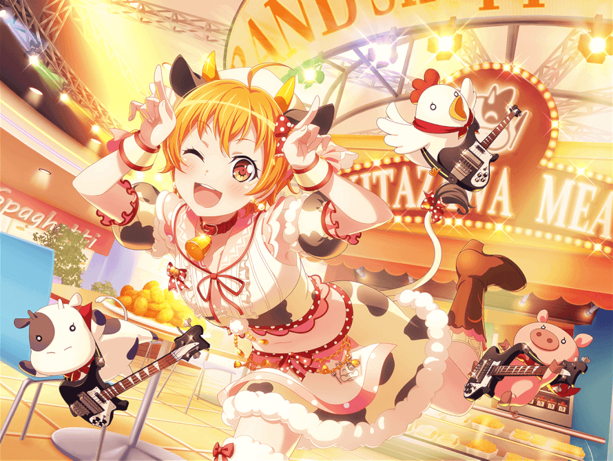 This new Hagumi card has all my uwus Or should I say... My U MOOS Haha get it because she's a...