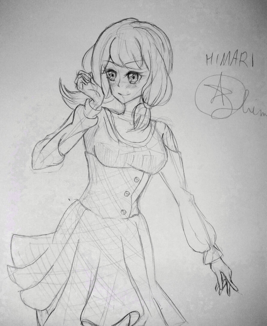 Just wanna share my Himari drawing in my style. Its just a 15 20 minute sketc so It's not the best,...