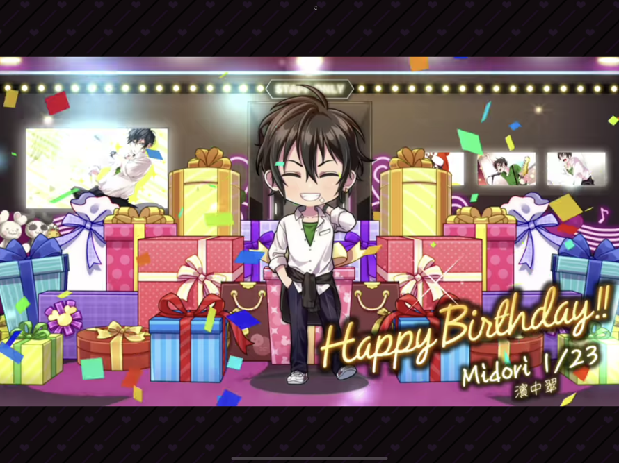 Well happy  early  birthday Midori.