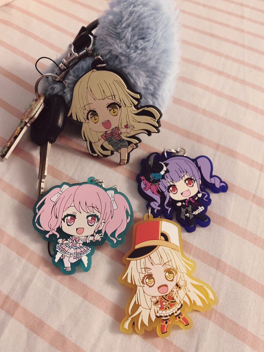 key straps 😽 im a little upset because the kokoro on my keys is a knock off but the depop seller...