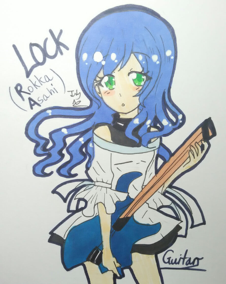 Rokka chan!!!💙💙💙💙💙 Drawn by me! ^^