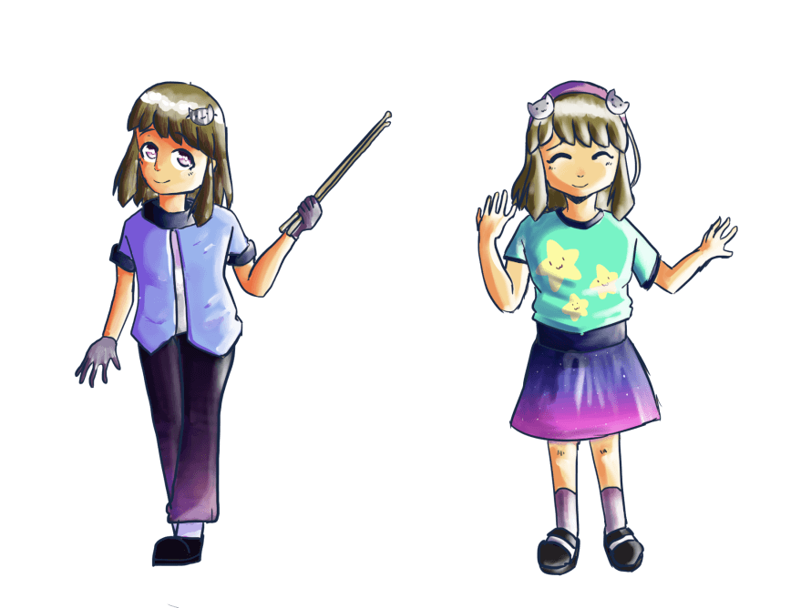 Bandori OC for a band I'm making with a few friends! After a while, I finally figured out what...