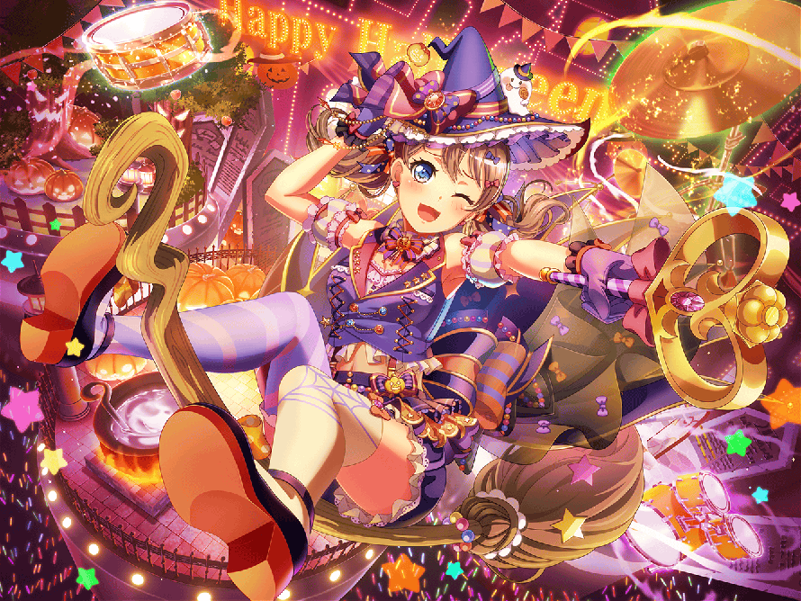 ok everyone's hype about arisa's Halloween card... CAN WE TALK ABOUR SAYA?!?!?!?!?!?!?!