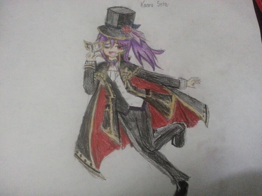 so, I did edits on many characters and I drew ako. But nothing on kaoru!? And so I drew the one,...