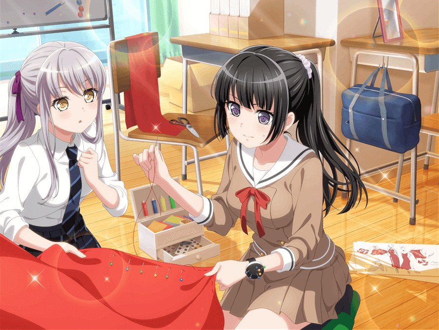Eeeek! Rinko in a ponytail, she's so beautiful T^T And Yukina next to her that's super cute x3