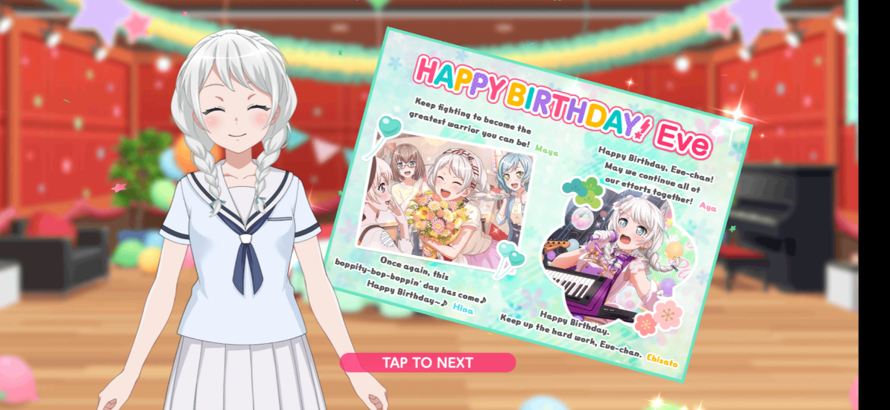 HAPPY BIRTHDAY EVE!!!!!!! YOU ARE  second  BEST GIRL EEEEEE, you've been also the one with level 3...