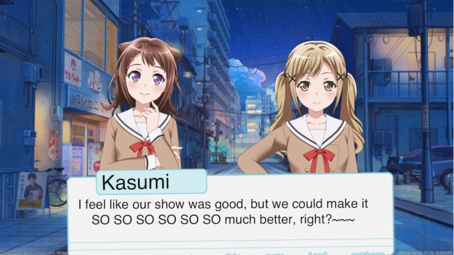 I began making my own visual novel for Poppin' Party