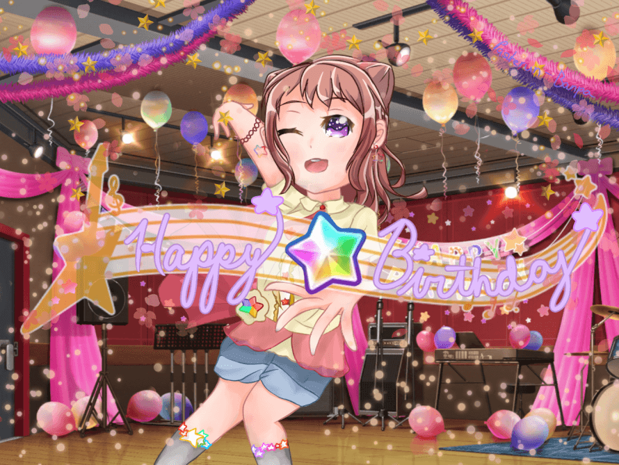 Happy Birthday to the brightest star in the night sky, Kasumi! Keep on moving  and sparkling ⭐️...