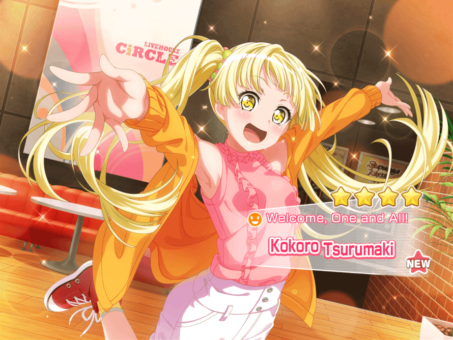 After a long time I finally got a 4 star :  Thank you Kokoro♡