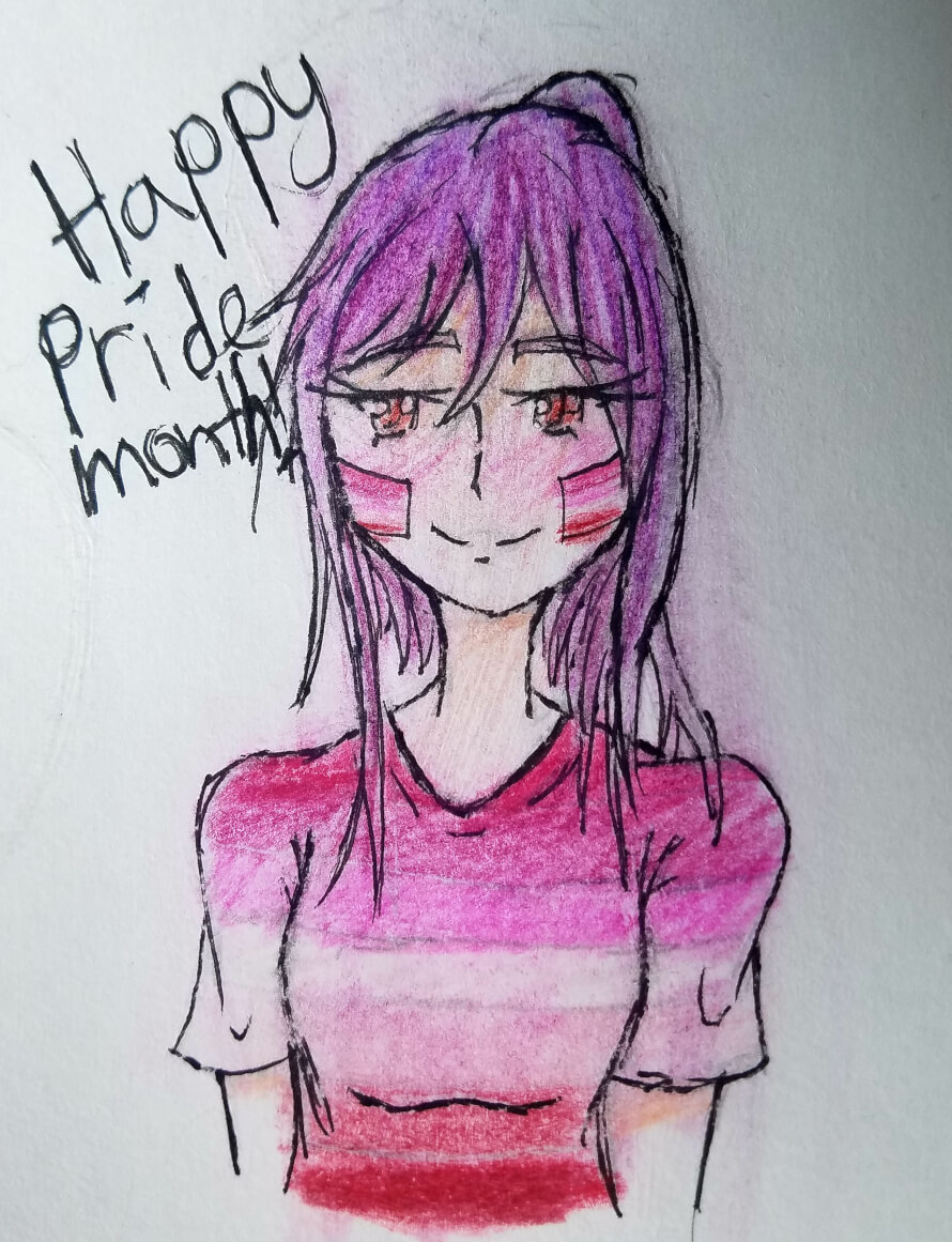 Hey guys! Happy Pride month! I just wanna say I'm a proud bisexual and love this lesbian with a...