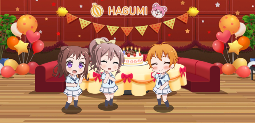 This is a super cute picture OwO  All of them are my favorite gurls OwO  Happy birthday...