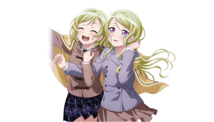 Amarena's Blond Hikawa Twins, but in Card Form!!  done sloppily lol    with pink eyes ?          ...