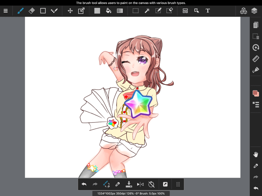 yeah so i guess i can post a wip for kasumi skskskskks also i have an ako thats not colored...