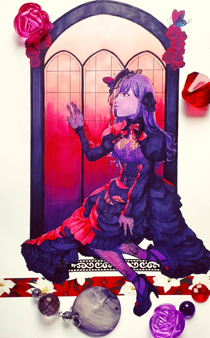 limited ranko fanart, another inktober entry! you can see more shots of the piece in either of the...