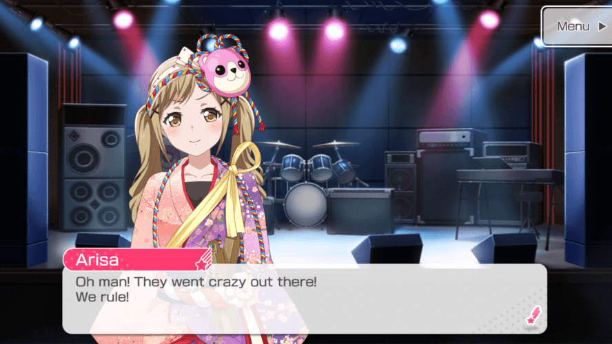 Never thought Arisa would say that.