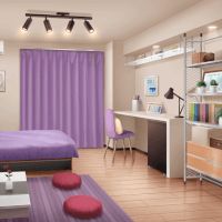 Kaoru's Room (Day, Closed Curtains)