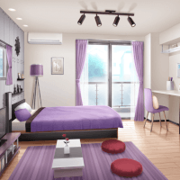 Kaoru's Room (Day, Open Curtains)