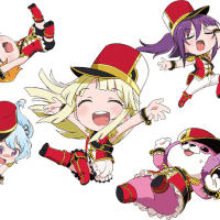 Garupa☆PICO Hello, Happy World! Chibis