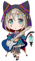 ★★★ Moca Aoba - Pure - Guiding Black Cat - Chibi