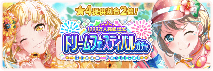 13 Million Players Dream Festival Gacha