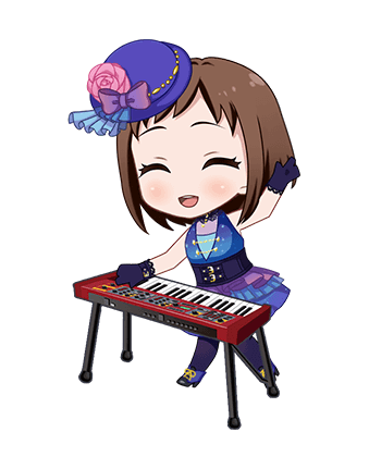 ★★ Tsugumi Hazawa - Happy - Looking up at the night sky - Chibi